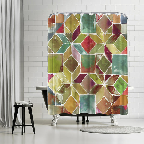 Tessellation Ii by PI Creative Art Shower Curtain