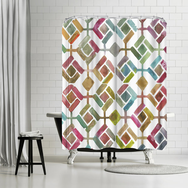 Tessellation Iii by PI Creative Art Shower Curtain