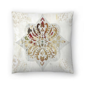 Red Medallion by PI Creative Art Decorative Pillow