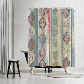 Painted Wood I by PI Creative Art Shower Curtain