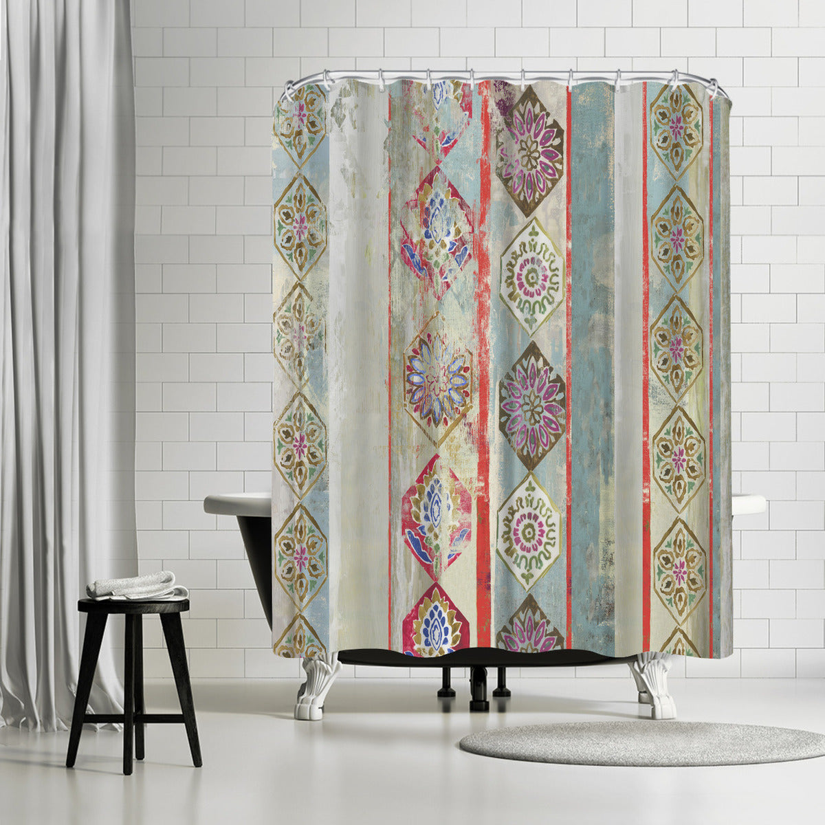 Painted Wood Ii by PI Creative Art Shower Curtain - Shower Curtain - Americanflat