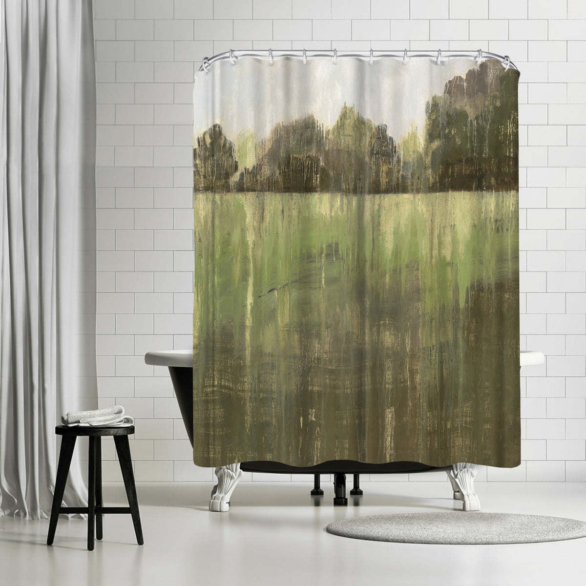 Green Field Ii by PI Creative Art Shower Curtain - Shower Curtain - Americanflat