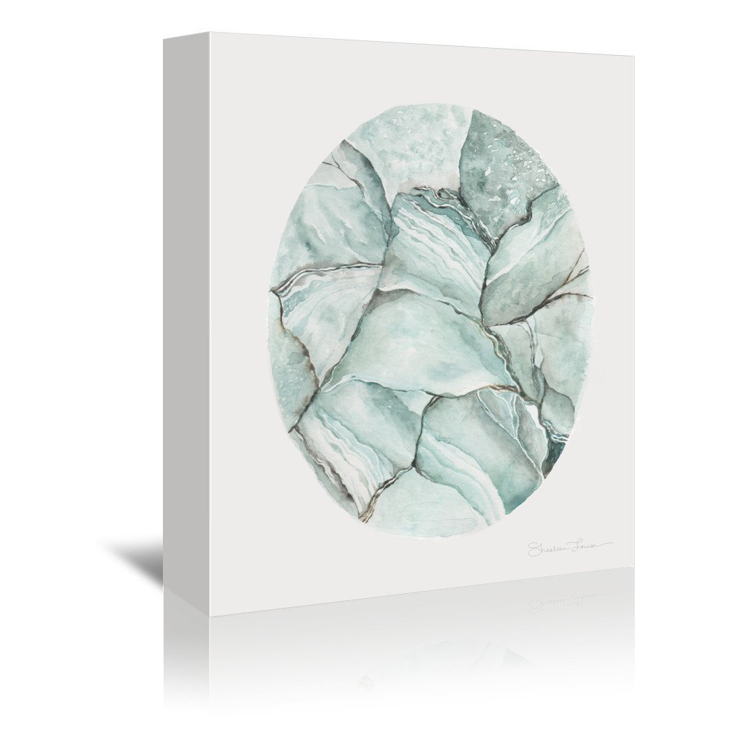 Aquamarine Stone by Shealeen Louise Wrapped Canvas - Wrapped Canvas - Americanflat
