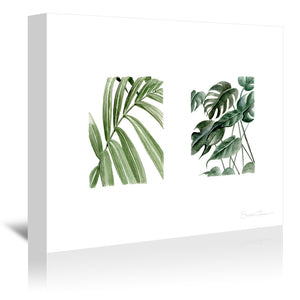 Greenery Squares by Shealeen Louise Wrapped Canvas