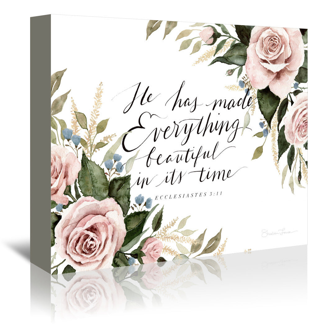 He Has Made Everything Beautiful by Shealeen Louise Wrapped Canvas - Wrapped Canvas - Americanflat