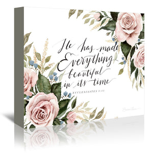 He Has Made Everything Beautiful by Shealeen Louise Wrapped Canvas
