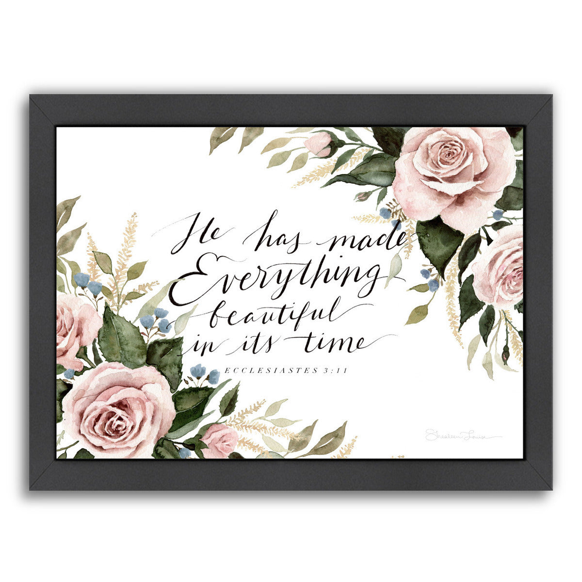 He Has Made Everything Beautiful by Shealeen Louise Framed Print - Wall Art - Americanflat