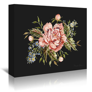 Pink Wild Rose Bouquet by Shealeen Louise Wrapped Canvas