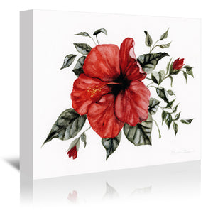 Red Hibiscus by Shealeen Louise Wrapped Canvas