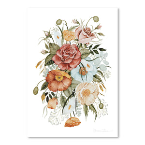 Roses And Poppies by Shealeen Louise Art Print