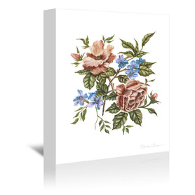 Rustic Wildflower Bouquet by Shealeen Louise Wrapped Canvas