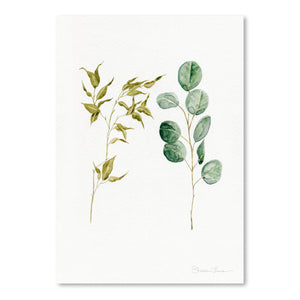 Two Eucalyptus Pieces by Shealeen Louise Art Print