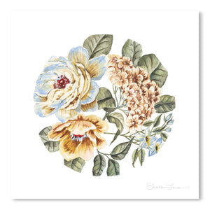 Circular Pastel Florals by Shealeen Louise Art Print