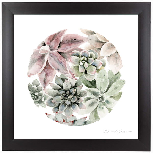 Circular Succulents by Shealeen Louise Framed Print
