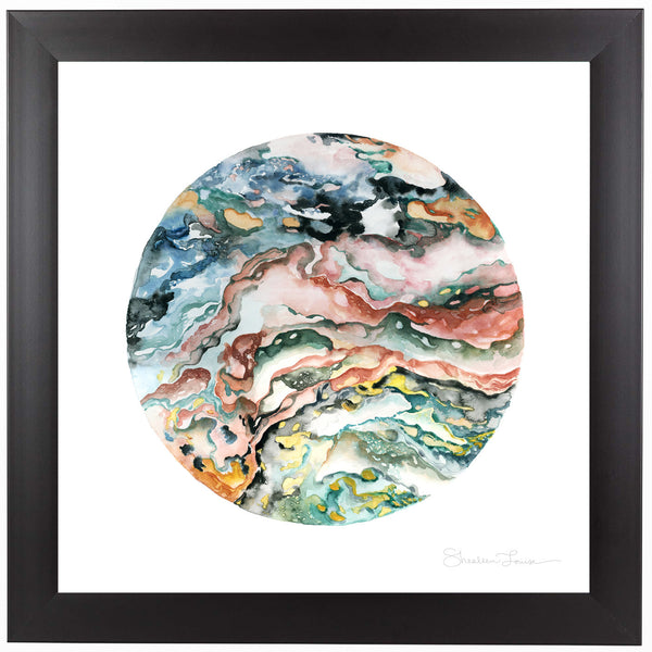 Colorful Geode by Shealeen Louise Framed Print