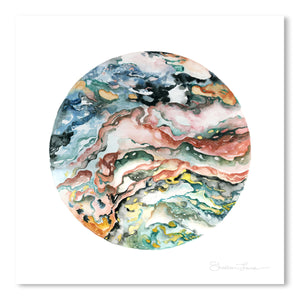 Colorful Geode by Shealeen Louise Art Print