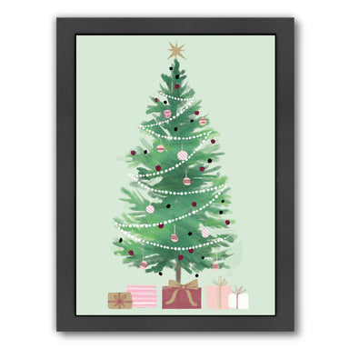 Christmas Tree By Kathryn Selbert - Black Framed Print - Wall Art - Americanflat