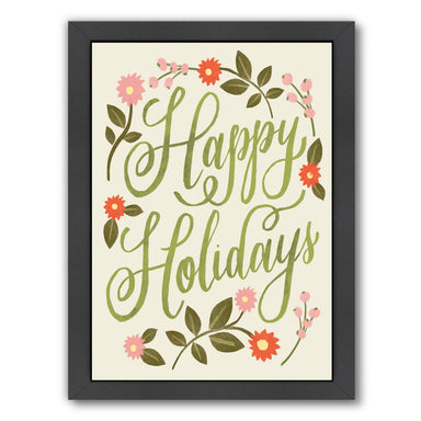 Happy Holidays By Kathryn Selbert - Black Framed Print - Wall Art - Americanflat