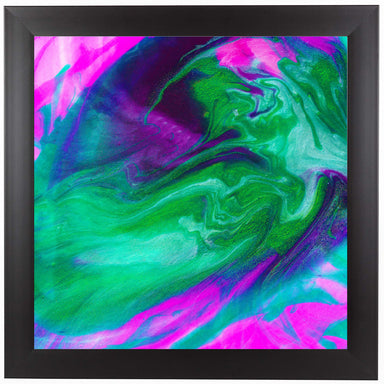 Hot Pink Emerald by Ashley Camille Black Framed Print - Wall Art - Americanflat