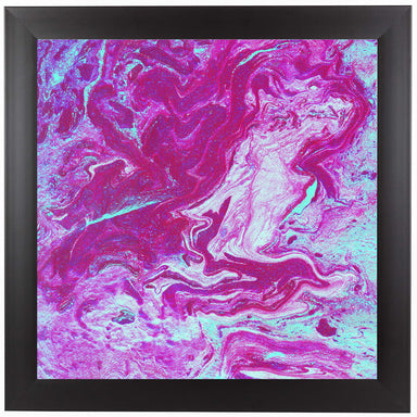 Magenta Marbling by Ashley Camille Black Framed Print - Wall Art - Americanflat