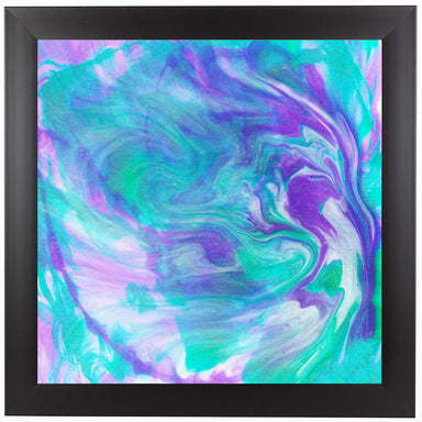 Purple Turquoise Swirl by Ashley Camille Black Framed Print - Wall Art - Americanflat