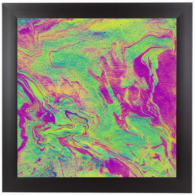 Rugged Neon by Ashley Camille Black Framed Print - Wall Art - Americanflat