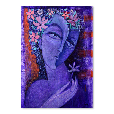 Girl With Flower 2 by Van Hovak - Art Print - Americanflat
