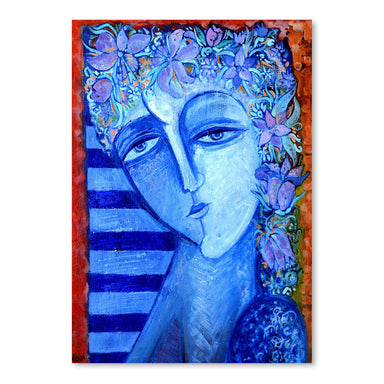 Girl With Flowers 2 by Van Hovak - Art Print - Americanflat