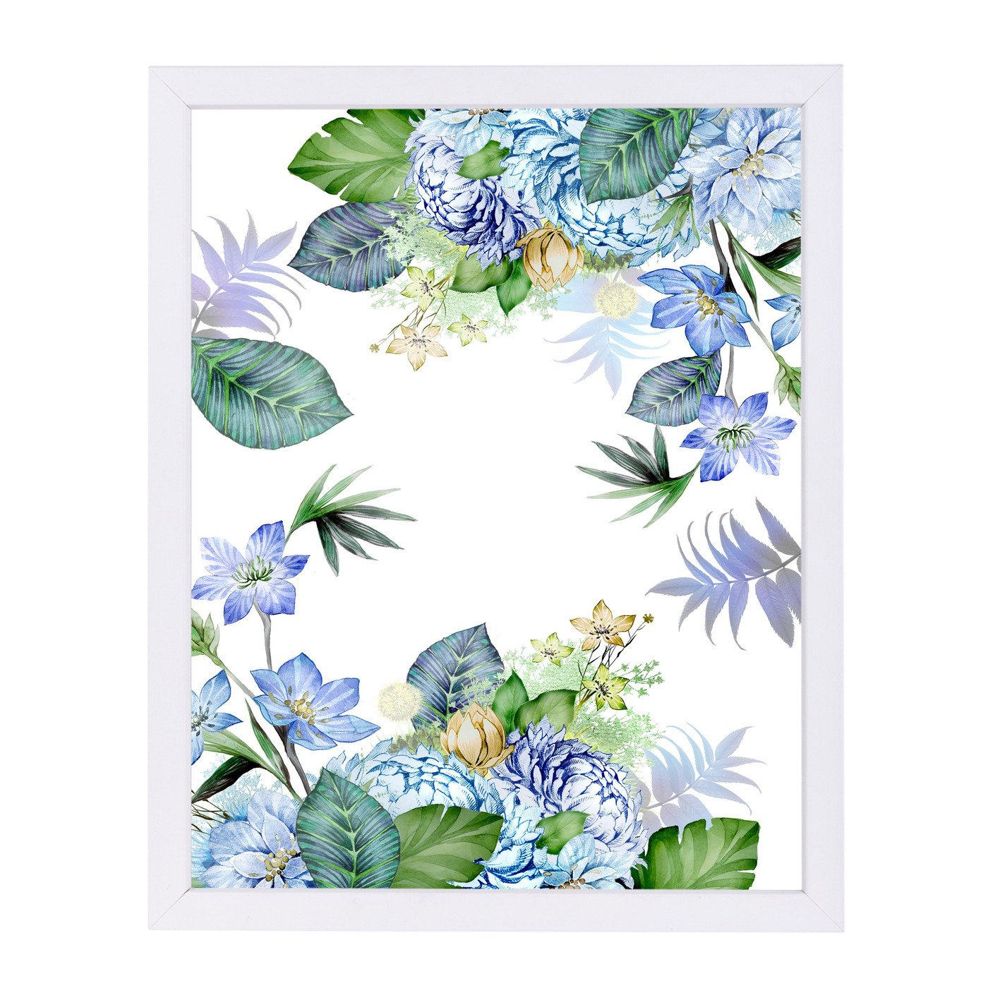 Yell Blue Border By Victoria Nelson - Framed Print - Americanflat