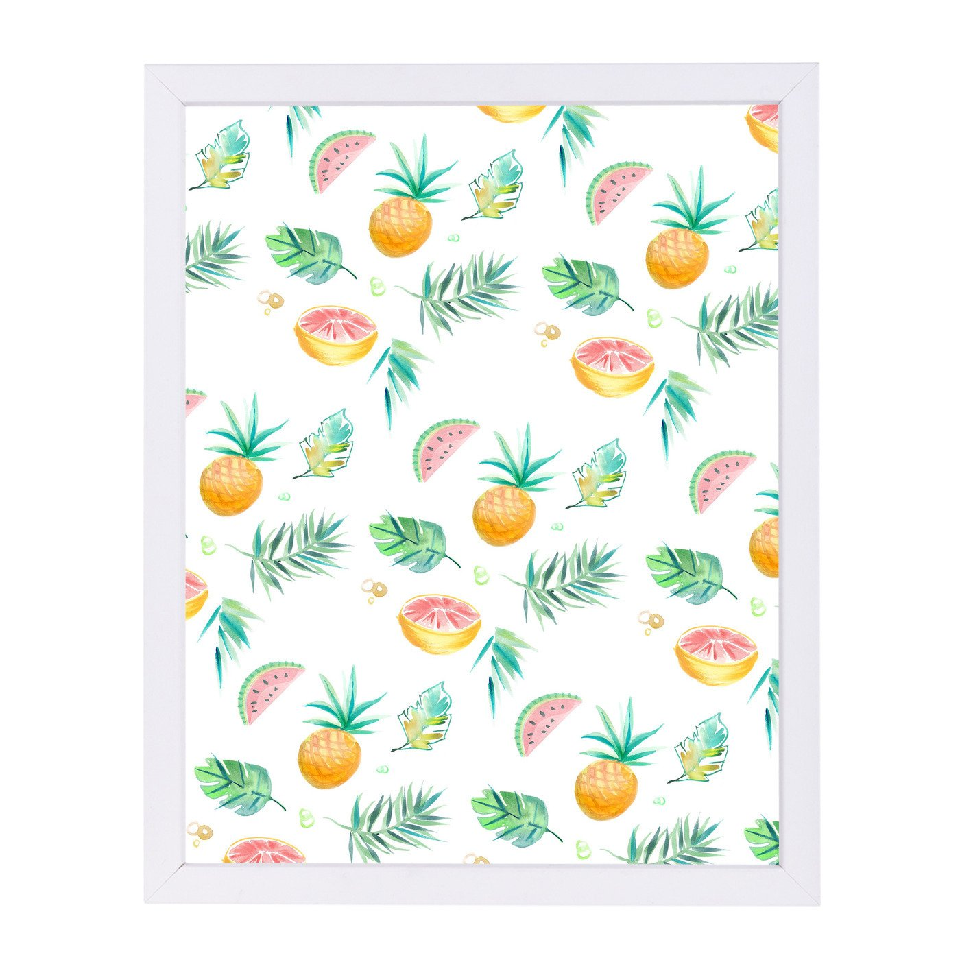 Tropical Pineapple By Victoria Nelson - Framed Print - Americanflat