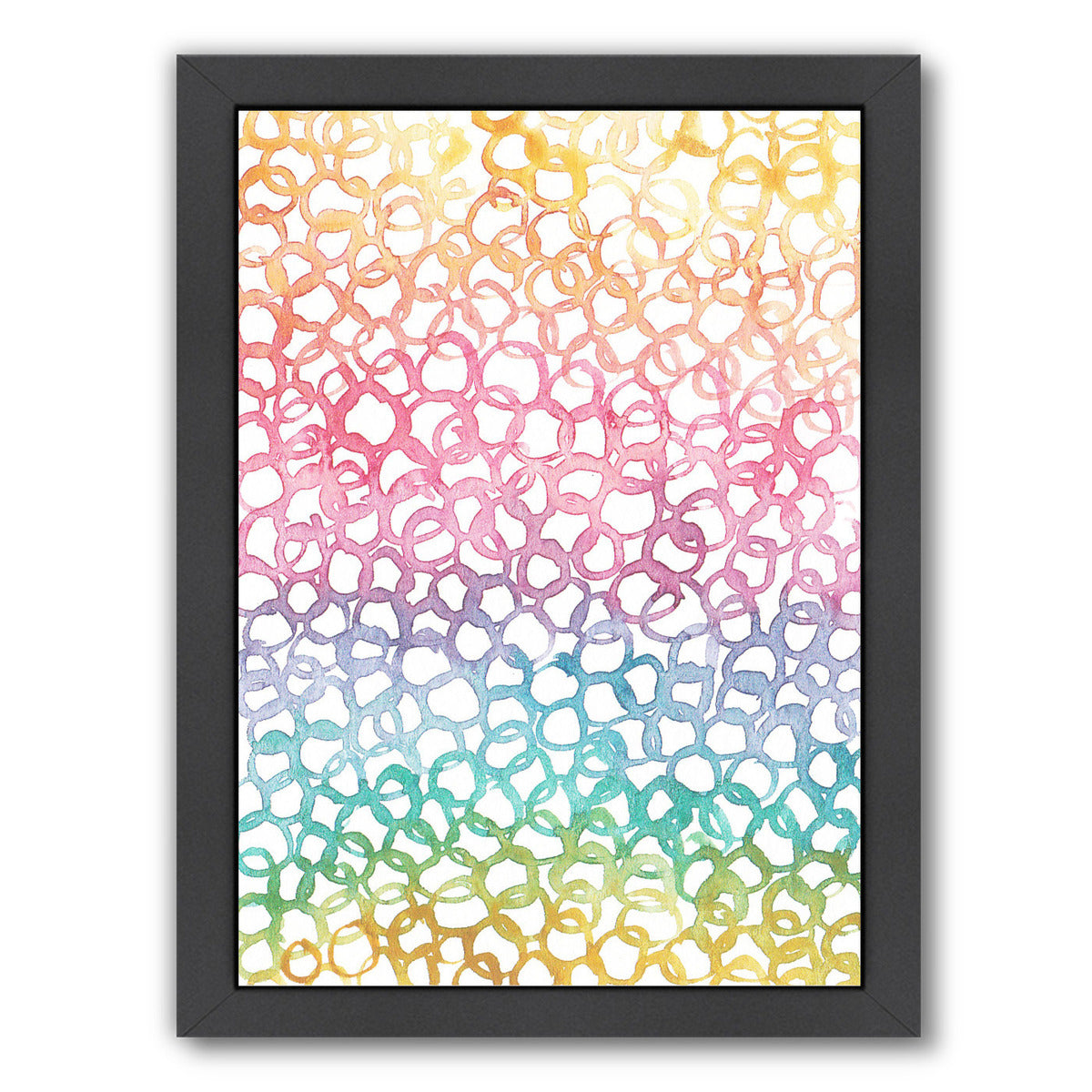 Rainbow Abstract 8 By Victoria Nelson - Black Framed Print - Wall Art - Americanflat