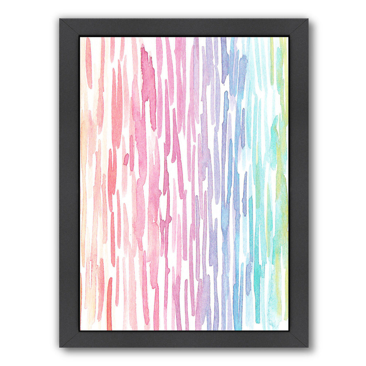 Rainbow Abstract 7 By Victoria Nelson - Black Framed Print - Wall Art - Americanflat