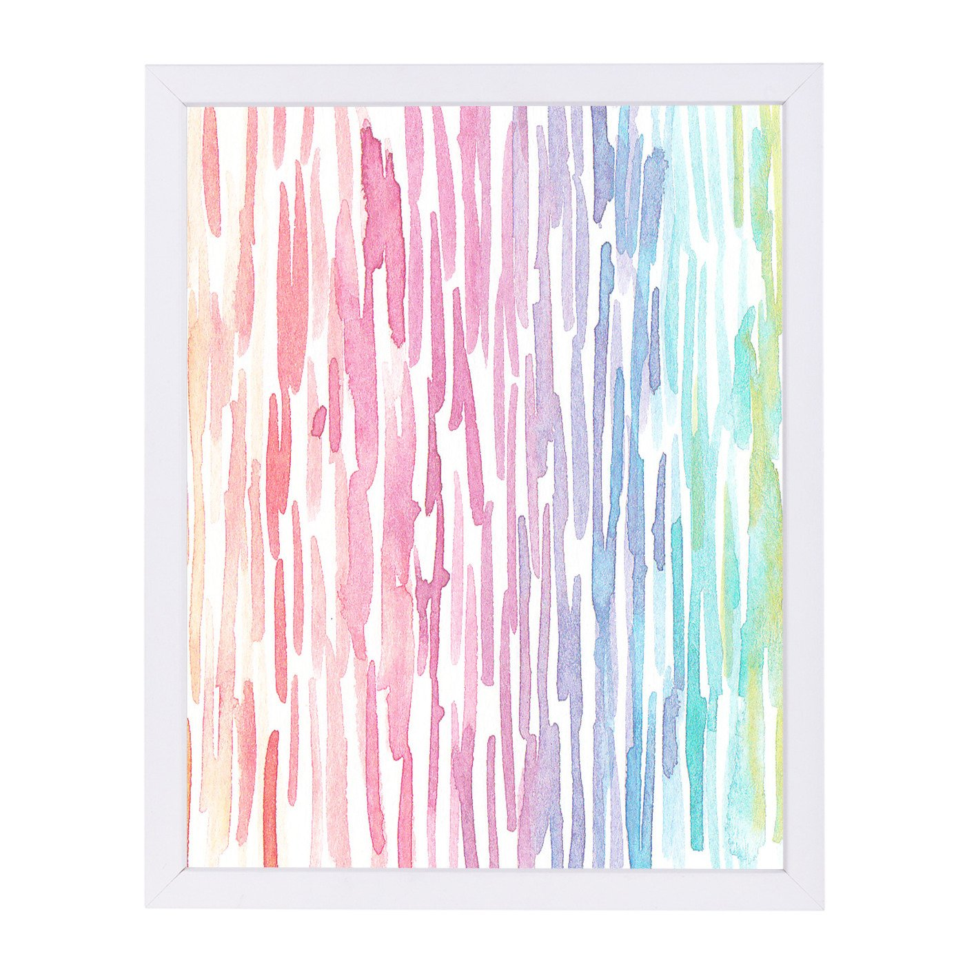 Rainbow Abstract 7 By Victoria Nelson - Framed Print - Americanflat