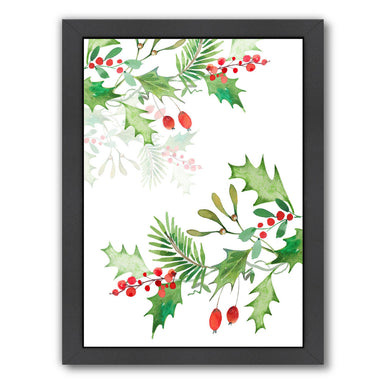 Christmas Berries By Victoria Nelson - Black Framed Print - Wall Art - Americanflat
