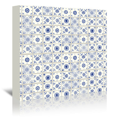 Delft Tiles By Frankie Van Mourik - Wrapped Canvas - Wrapped Canvas - Americanflat
