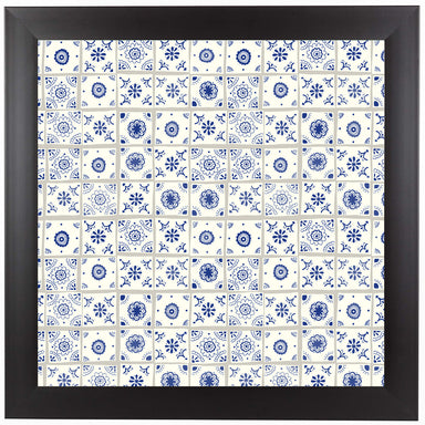 Delft Tiles by Frankie Van Mourik Black Framed Print - Wall Art - Americanflat