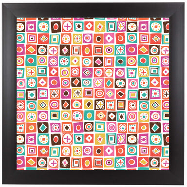 Fiesta Tiles by Frankie Van Mourik Black Framed Print - Wall Art - Americanflat