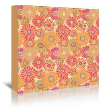 Orange Flowers By Frankie Van Mourik - Wrapped Canvas - Wrapped Canvas - Americanflat