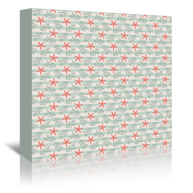 Starfish And Stripes By Frankie Van Mourik - Wrapped Canvas - Wrapped Canvas - Americanflat