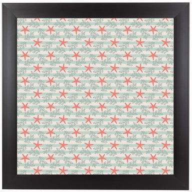 Starfish And Stripes by Frankie Van Mourik Black Framed Print - Wall Art - Americanflat