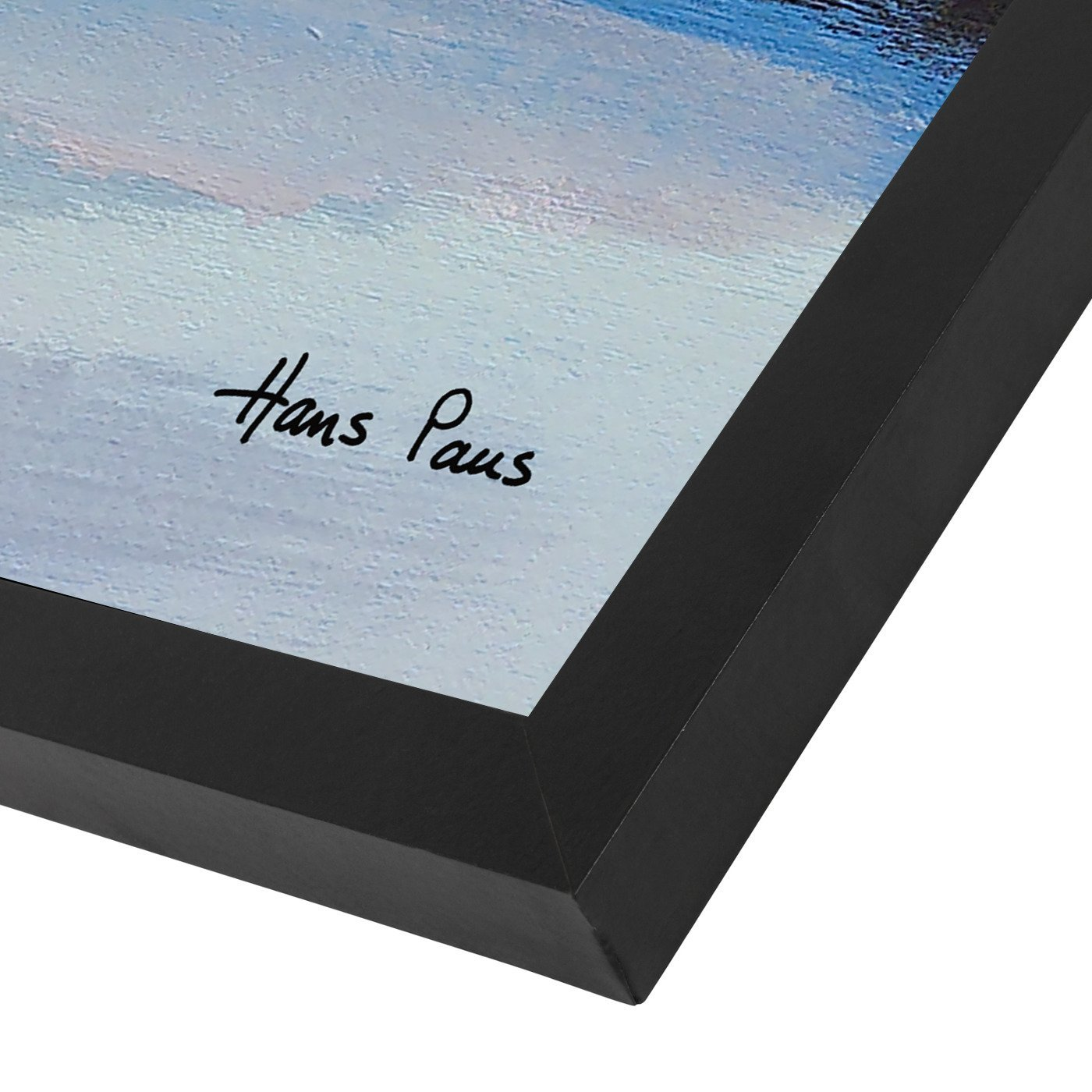 Abstract Landscape 2 By Hans Paus - Black Framed Print - Wall Art - Americanflat