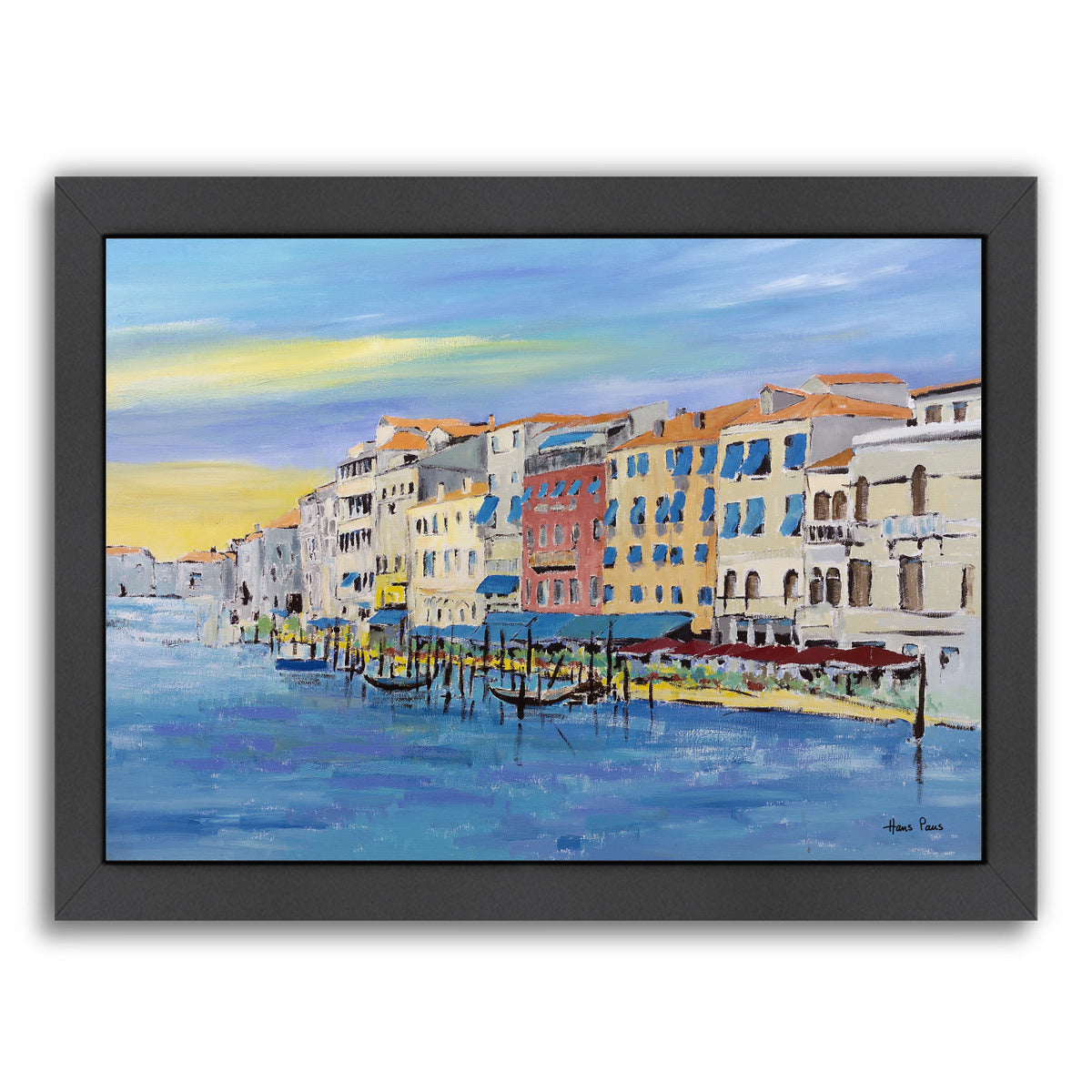 Venice By Hans Paus - Black Framed Print - Wall Art - Americanflat