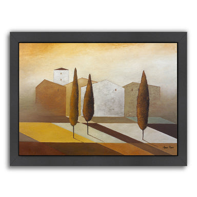 "Tuscany 3 By Hans Paus - Black Framed Print, Wall Art, Hans Paus, 8"" x 10"""