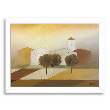 "Tuscany 4 By Hans Paus - White Framed Print, Wall Art, Hans Paus, 8"" x 10"""