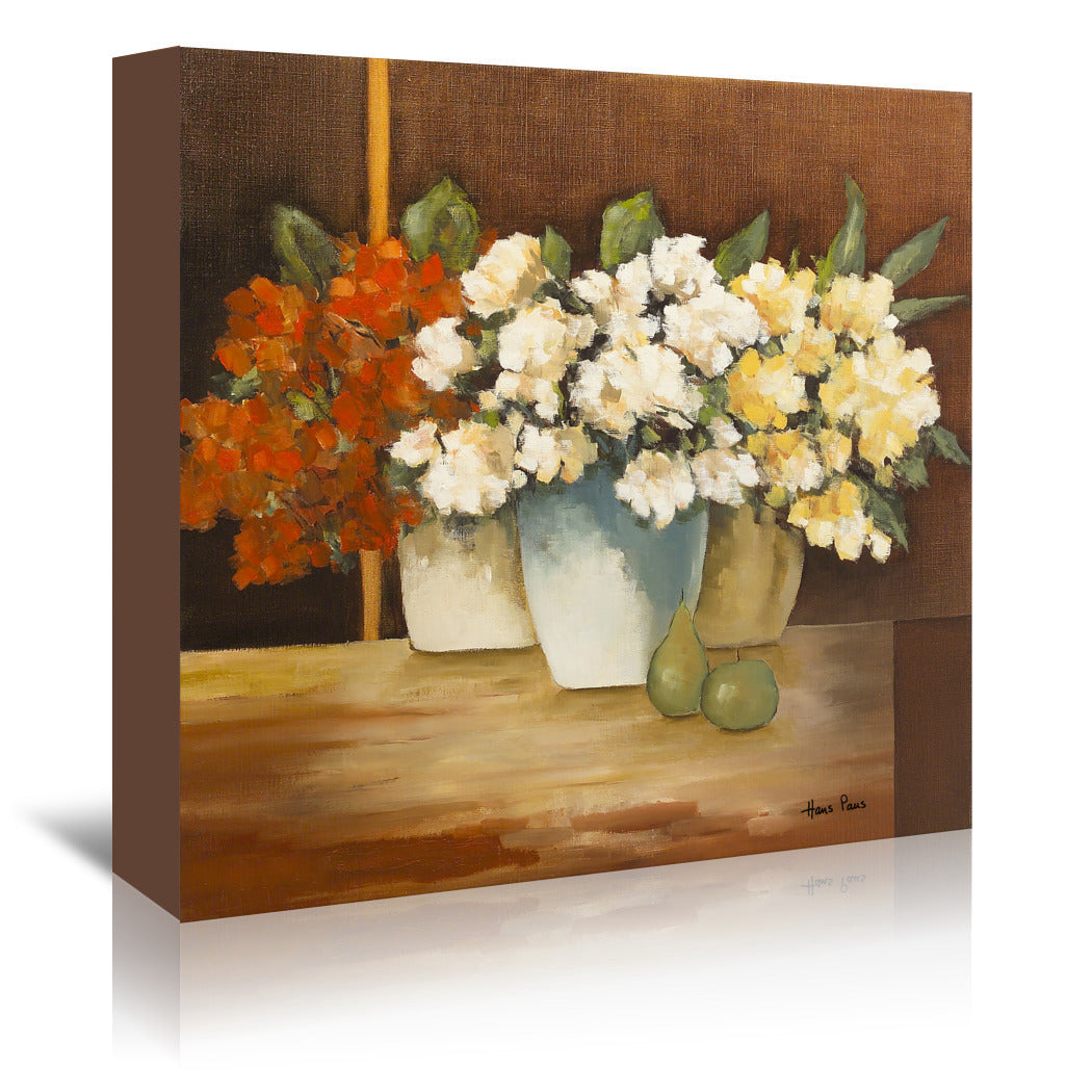 Colorful Flowers By Hans Paus - Wrapped Canvas - Wrapped Canvas - Americanflat