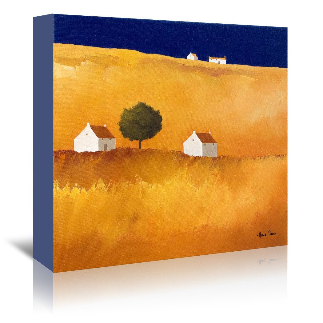Blue Sky 2 By Hans Paus - Wrapped Canvas - Wrapped Canvas - Americanflat