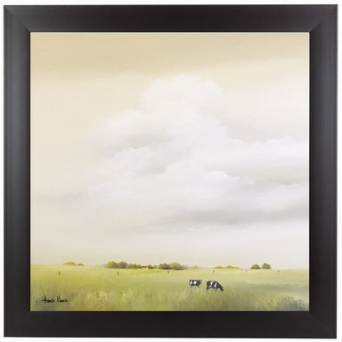 Cows 2 by Hans Paus Black Framed Print - Wall Art - Americanflat