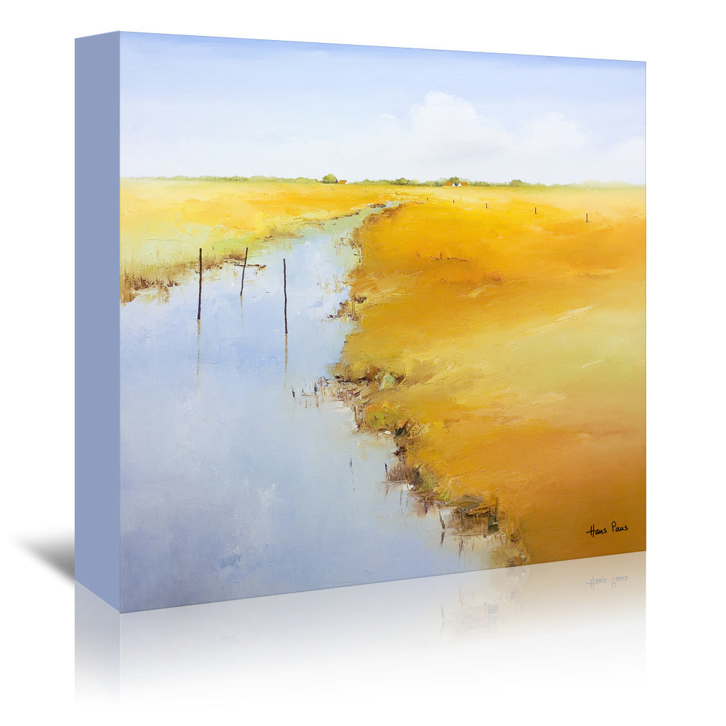 Small River By Hans Paus - Wrapped Canvas - Wrapped Canvas - Americanflat