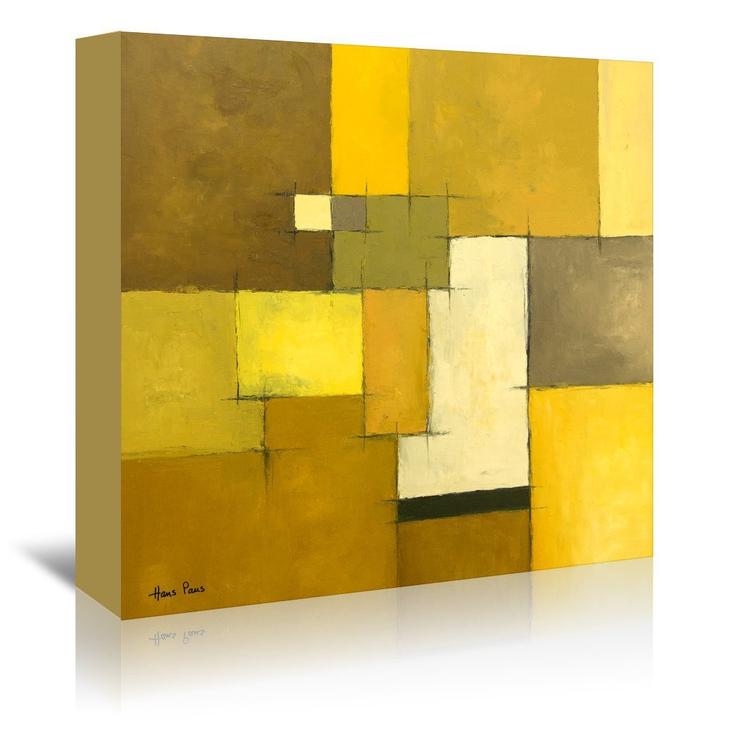 Abstract 9 By Hans Paus - Wrapped Canvas - Wrapped Canvas - Americanflat
