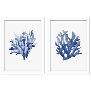 Blue Coral by NUADA - 2 Piece Framed Print Set - Americanflat